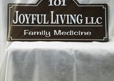 joyful living sign